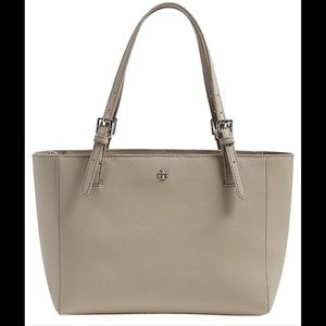 Tory Burch York Small Buckle Tote French Gray